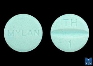 Pill Imprint TH 1 MYLAN (Hydrochlorothiazide and Triamterene 25 mg / 37.5 mg)