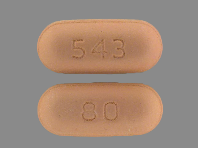 Pill Imprint 543 80 (Zocor 80 mg)