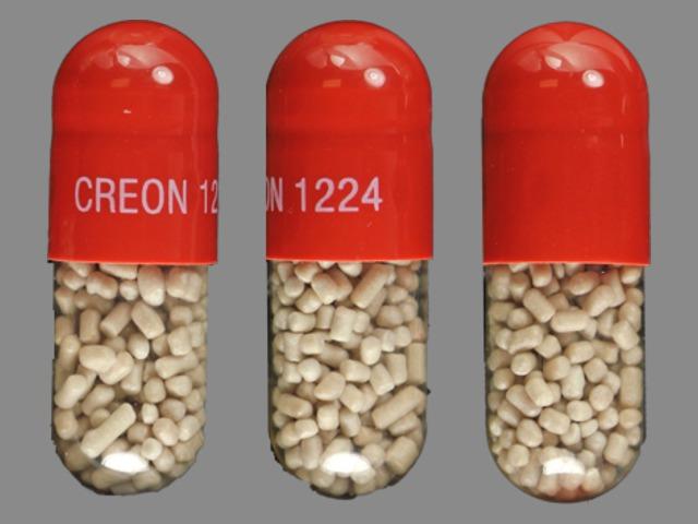 Creon 120,000 units amylase / 24,000 units lipase /  76,000 units protease CREON 1224