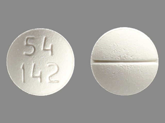 Pill Imprint 54 142 (Methadone Hydrochloride 10 mg)