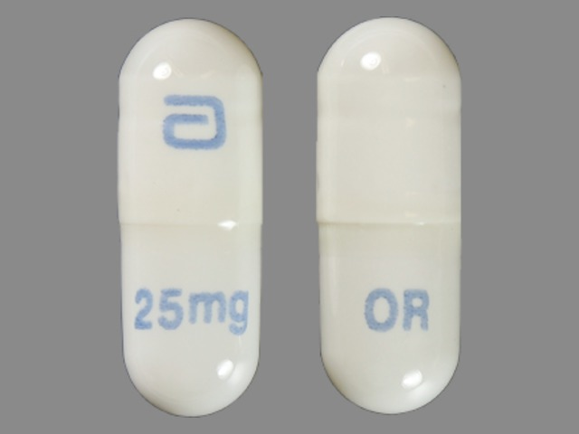 Pill Imprint a 25mg OR (Gengraf 25 mg)