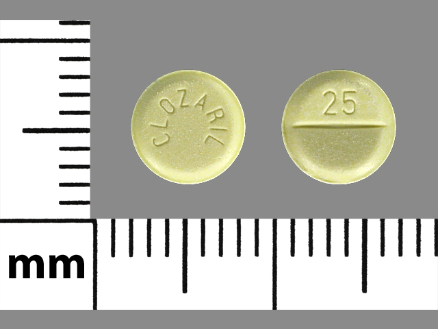 Pill Imprint CLOZARIL 25 (Clozaril 25 mg)