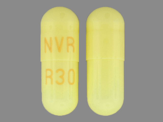 Ritalin LA 30 mg NVR R30