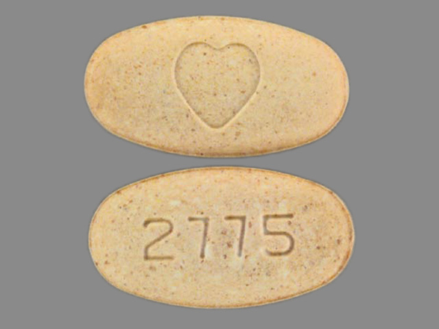 Pill Imprint 2775 Heart logo (Avalide 12.5 mg / 150 mg)