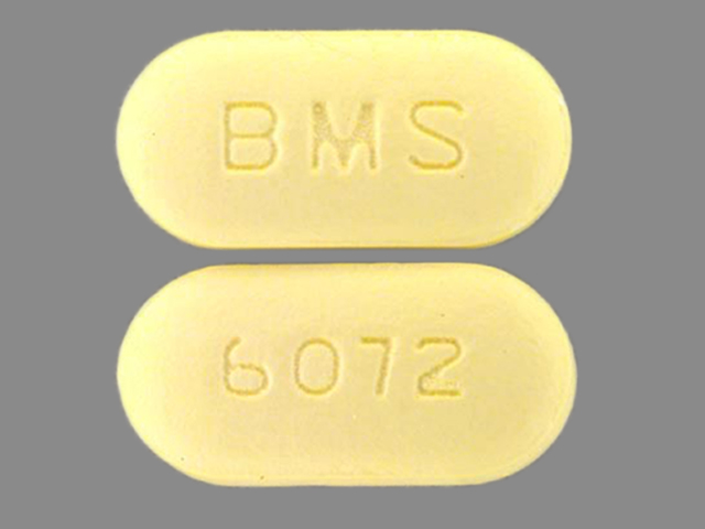 Pill Imprint BMS 6072 (Glucovance 1.25 mg / 250 mg)