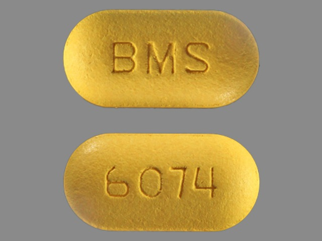 Pill Imprint BMS 6074 (Glucovance 5 mg / 500 mg)