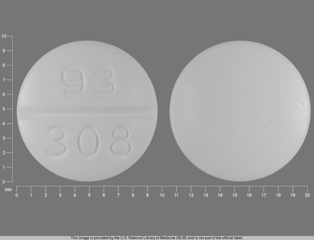 Pill Imprint 93 308 (Clemastine Fumarate 2.68 mg)