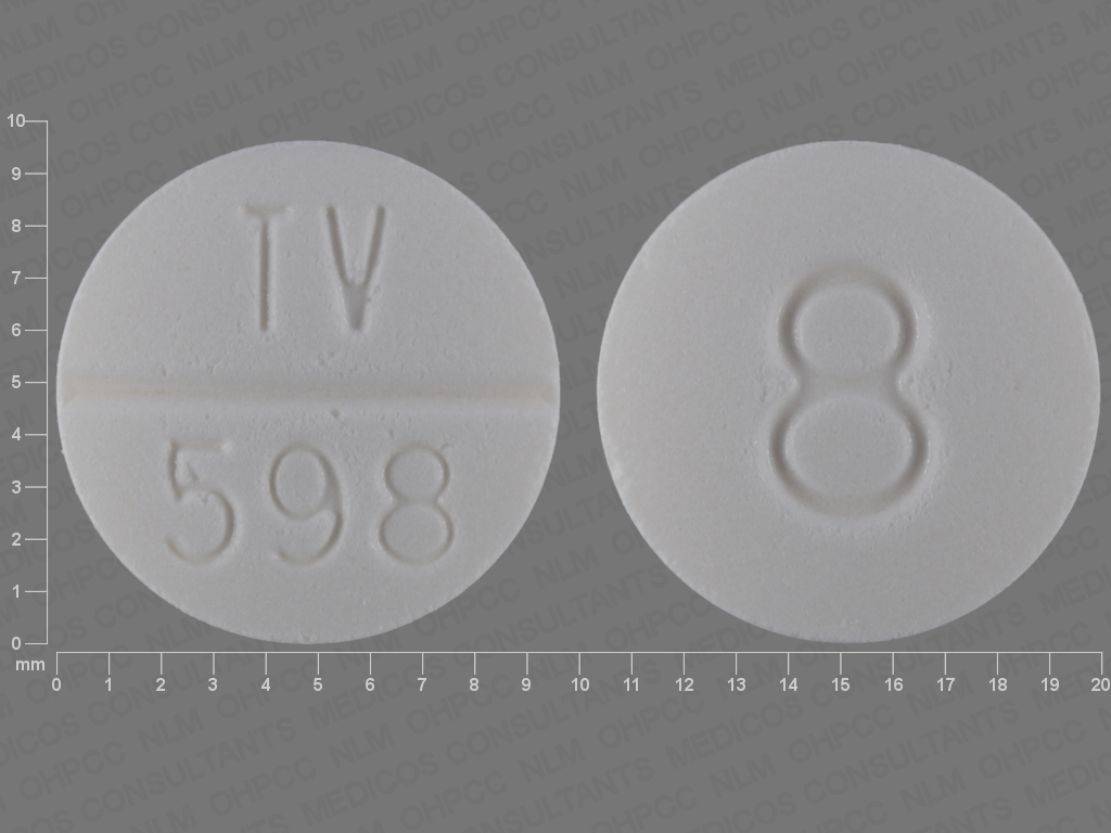 Doxazosin mesylate 8 mg TV 598 8