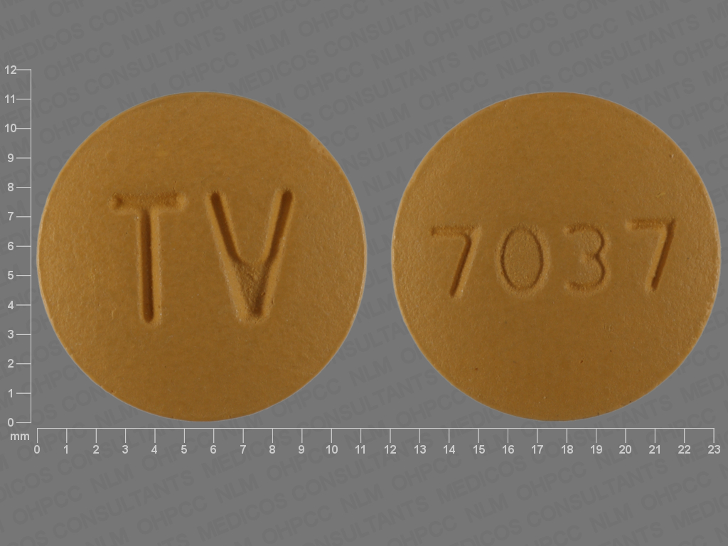 Amlodipine besylate, hydrochlorothiazide and valsartan 5 mg / 25 mg / 160 mg TV 7037