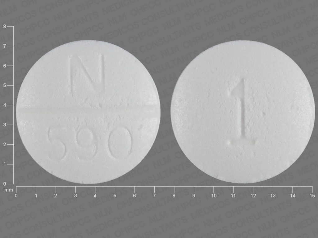 Pill Imprint N 590 1 (Doxazosin Mesylate 1 mg)