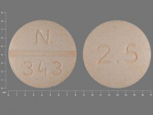 Pill Imprint N 343 2.5 (Glyburide 2.5 mg)