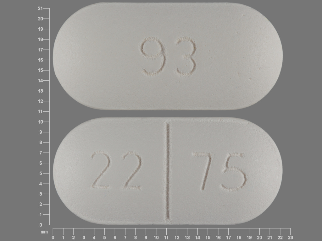 Amoxicillin and clavulanate potassium 875 mg / 125 mg 93 22 75