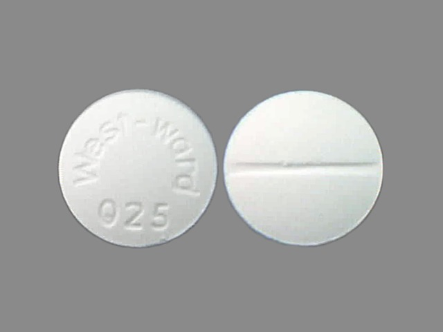 Pill Imprint West-Ward 025  (Aminophylline 200 mg)