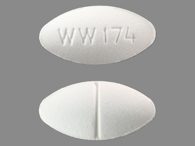 Captopril 100 mg WW 174