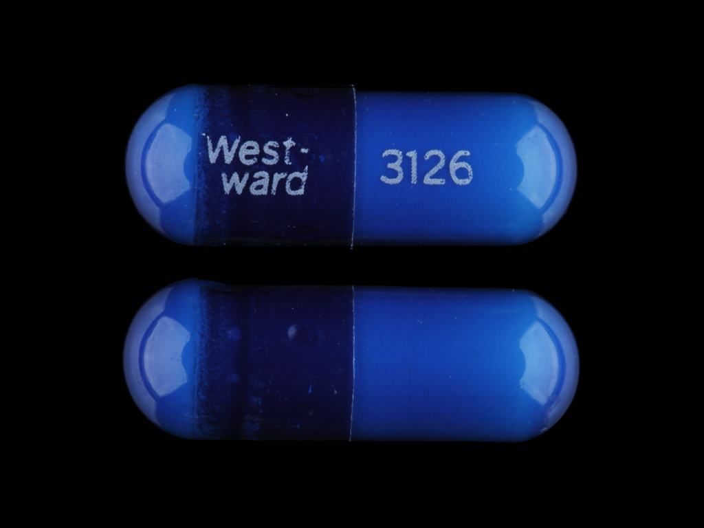 West-ward 3126 Pill Images (Blue / Capsule-shape)