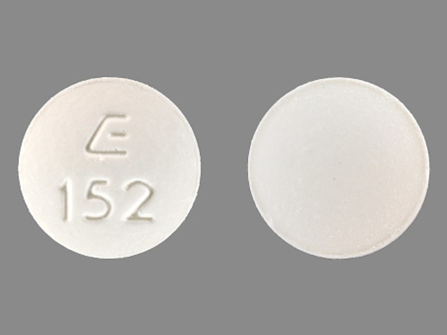 Hydrochlorothiazide and lisinopril 12.5 mg / 20 mg E 152