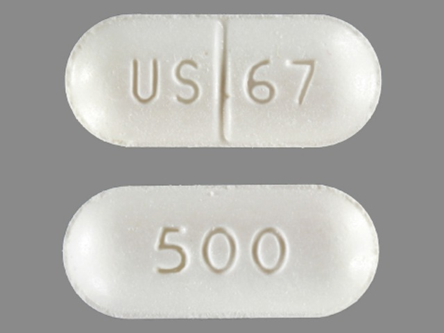 Pill Imprint US 67 500 (Niacor 500 mg)