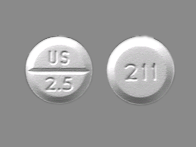 Midodrine systemic 2.5 mg (US 2.5 211)