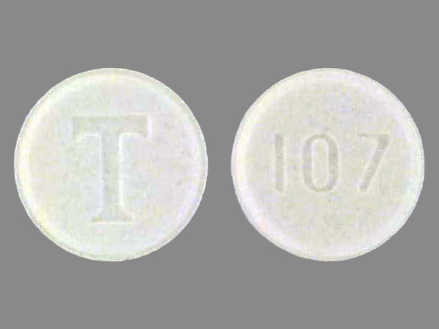 Pill Imprint T 107 (Tenormin 25 mg)