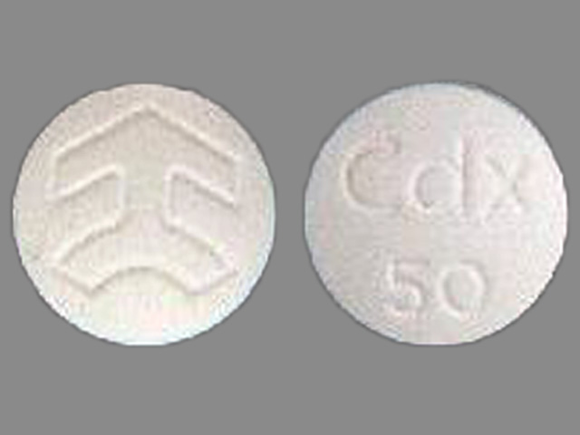 Pill Imprint CDX 50 Logo (Casodex 50 mg)