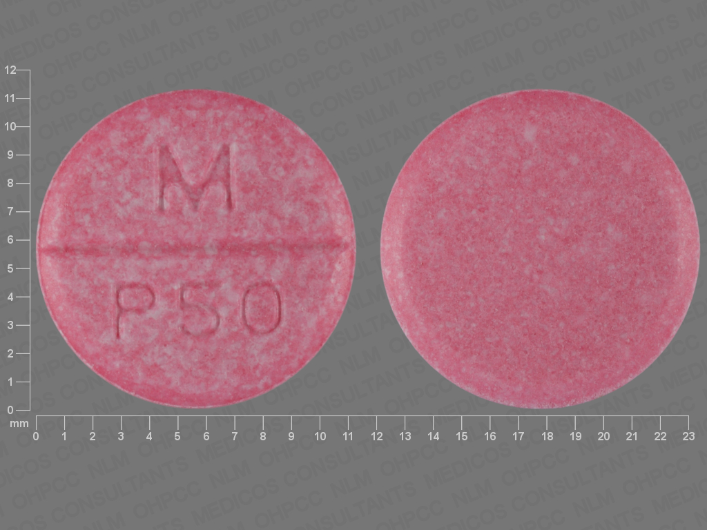 Phenytoin (chewable) 50 mg M P50