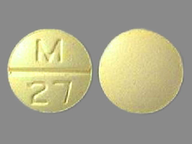 Pill Imprint M 27 (Chlorthalidone and clonidine 15 mg / 0.2 mg)
