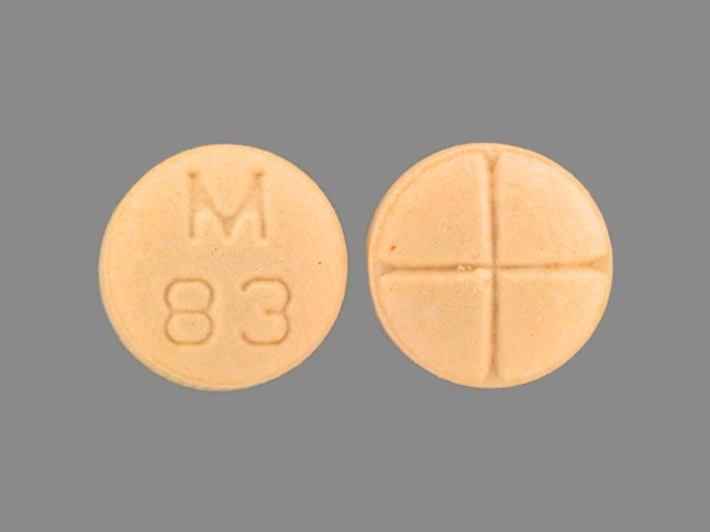 Captopril and hydrochlorothiazide 25 mg / 25 mg M 83