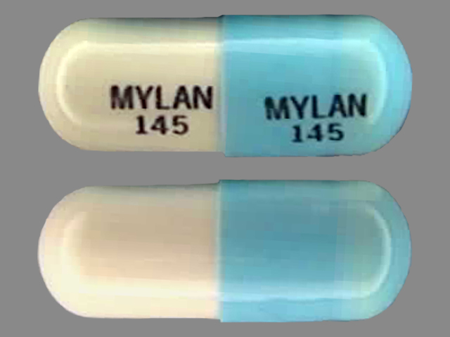 Doxycycline hyclate 50 mg MYLAN 145 MYLAN 145
