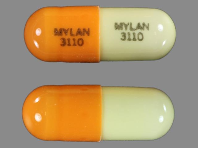 Temazepam 7.5 mg MYLAN 3110 MYLAN 3110