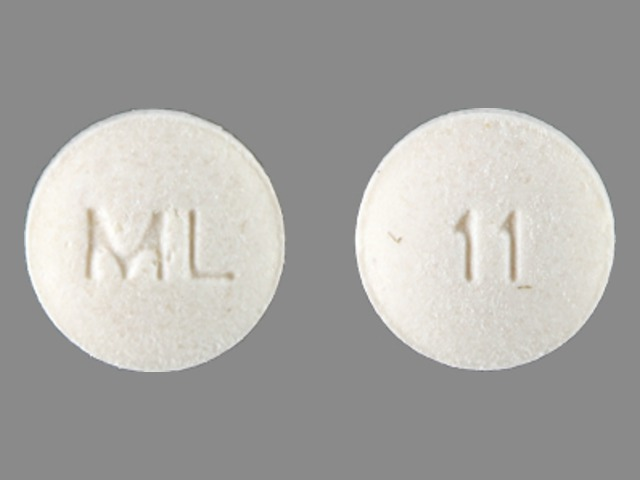 Pill Imprint ML 11 (Liothyronine Sodium 5 mcg)