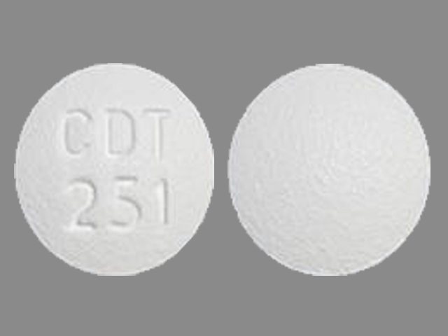 Pill Imprint CDT 251 (Amlodipine Besylate and Atorvastatin Calcium 2.5 mg / 10 mg)