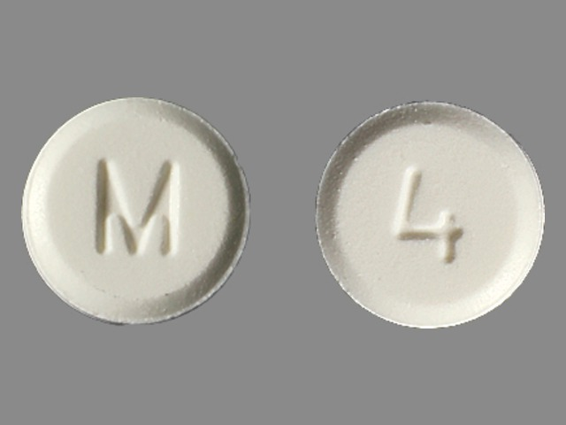 Pill Imprint M 4 (Hydromorphone Hydrochloride 4 mg)