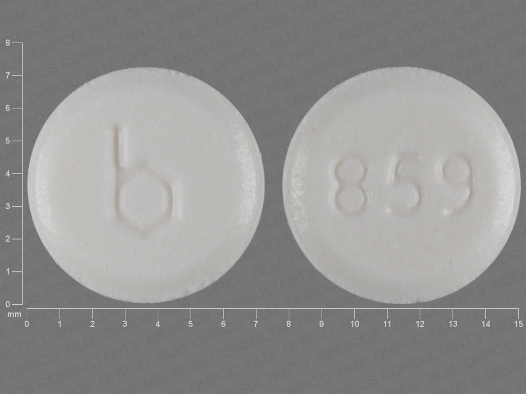 Pill Imprint b 859 (Flecainide Acetate 50 mg)