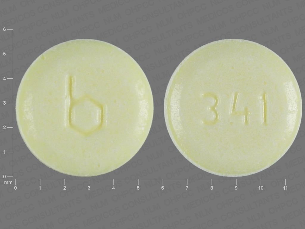 Pill Imprint b 341 (Aranelle ethinyl estradiol 0.035 mg / norethindrone 0.5 mg)
