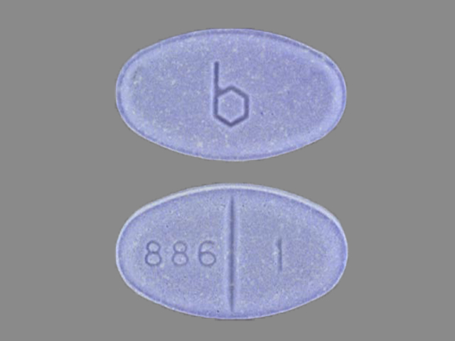 Pill Imprint b 886 1 (Estradiol 1 mg)