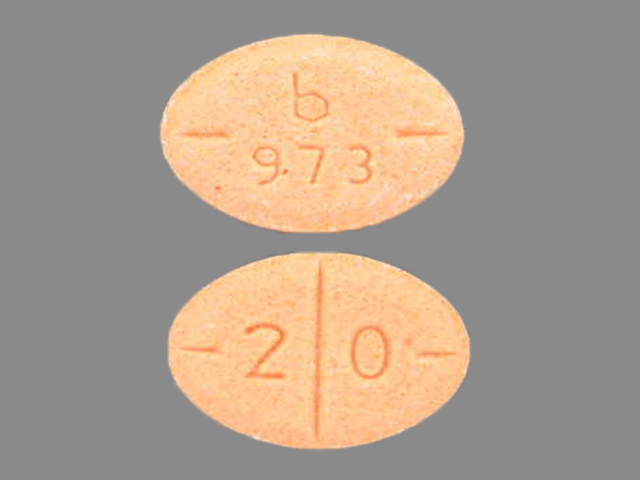 Pill Imprint b 973 2 0 (Amphetamine and Dextroamphetamine 20 mg)