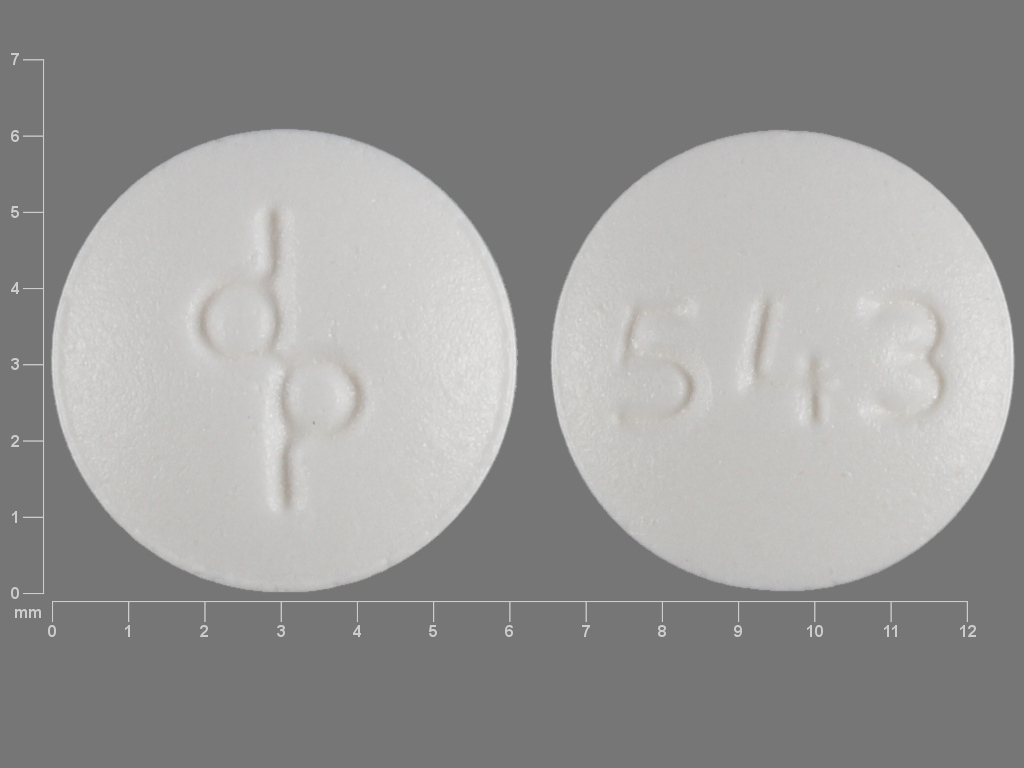Pill Imprint dp 543 (Cryselle ethinyl estradiol 0.03 mg / norgestrel 0.3 mg)