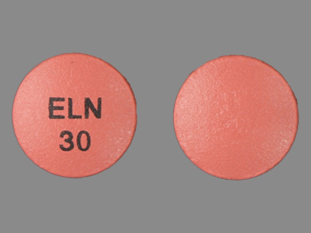 Pill Imprint ELN 30 (Afeditab CR 30 mg)