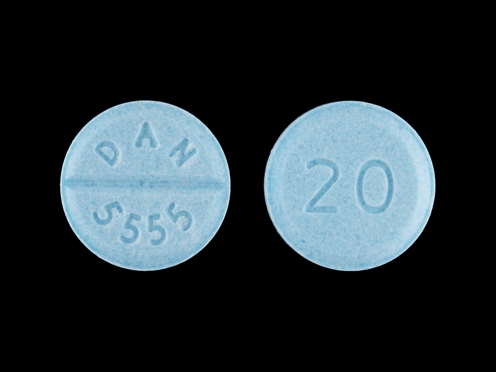 Propranolol systemic 20 mg (20 DAN 5555)