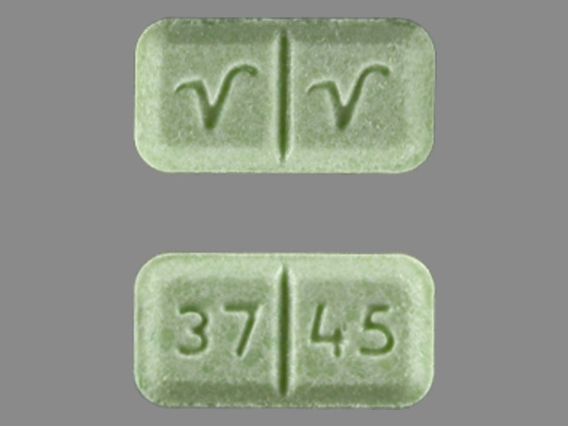 Green and rectangle pill identification wizard drugs 37 45 v v mozeypictures Images