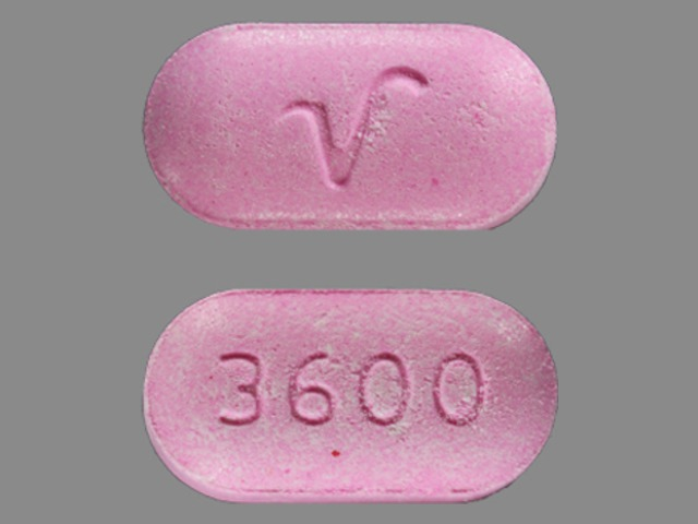 Acetaminophen and hydrocodone bitartrate 500 mg / 10 mg 3600 V
