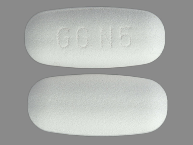Amoxicillin and clavulanate potassium 250 mg / 125 mg GG N5