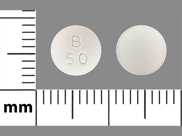 Pill Imprint B 50 (Bicalutamide 50 mg)