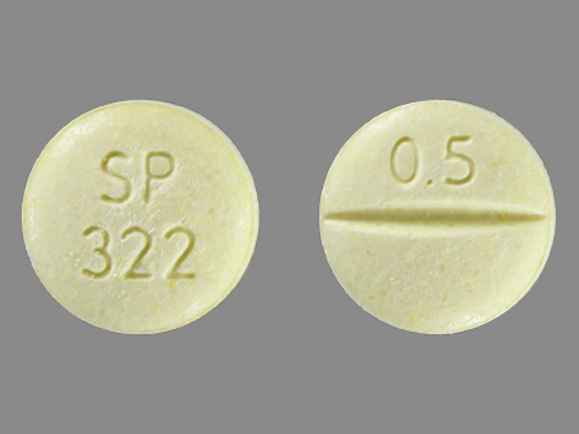 Pill Imprint SP 322 0.5 (Niravam 0.5 mg)