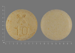 Pill Imprint X 10 (Uroxatral 10 mg)