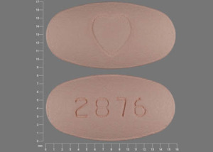 Avalide 12.5 mg / 300 mg 2876 Logo (Heart)