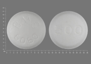 Pill Imprint BMS 6060 500 (Glucophage 500 mg)