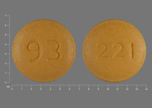 Pill Imprint 93 221 (Risperidone 0.25 mg)