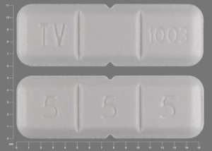 Pill Imprint TV 1003 5 5 5 (Buspirone Hydrochloride 15 mg)