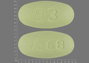 Hydrochlorothiazide and losartan potassium 25 mg / 100 mg 93 7368